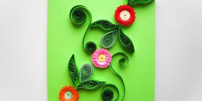 Смотреть Цветы из акварельной бумаги видео